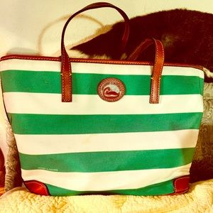Dooney & Bourke Striped Shopper Tote Bag